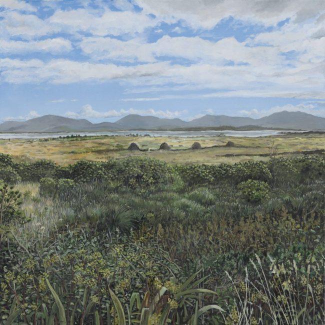 Achill Sound 80 x 80 cm acrylic on canvas