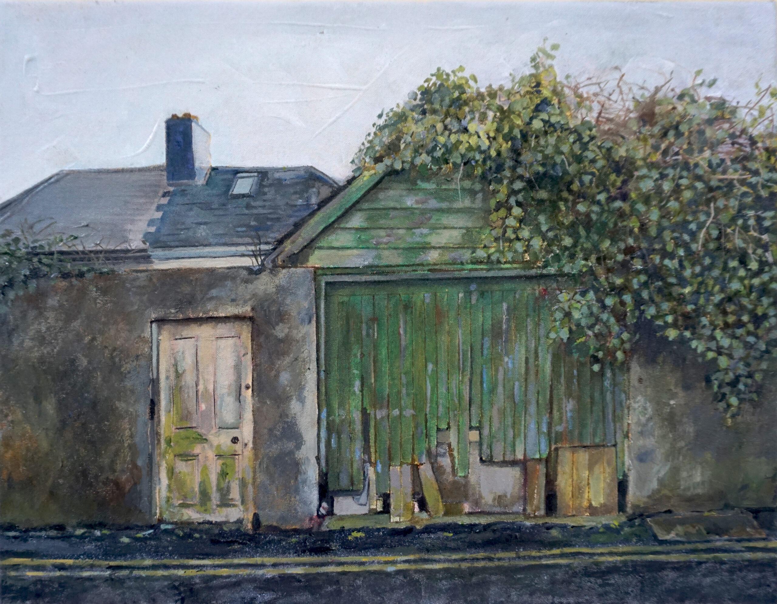 paul-mc-kenna-garage-alexandra-rd.acrylic-on-canvas-35x45cm