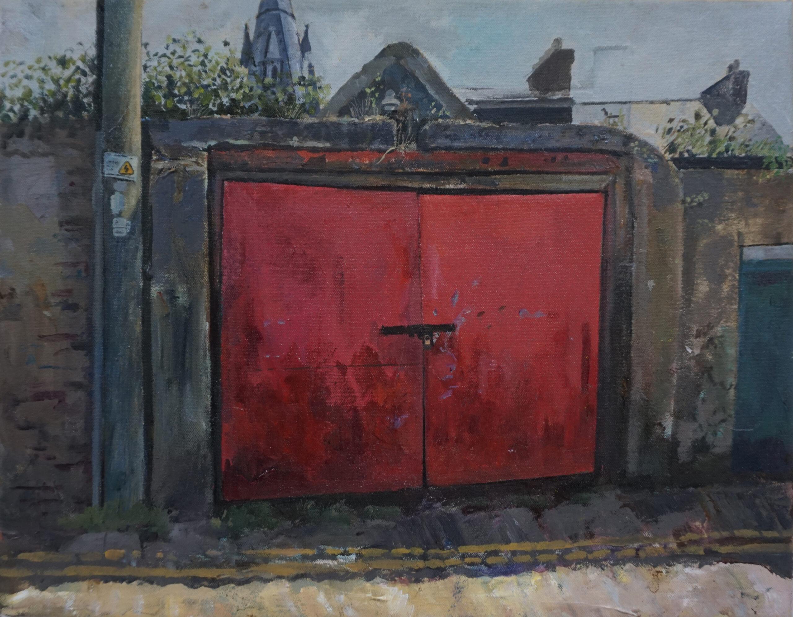 paul-mc-kenna-garage-st.lukes-ave-acrylic-on-canvas-35x45cm